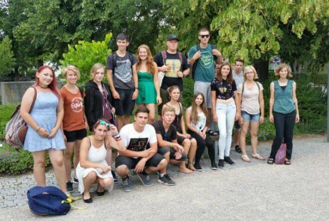 Gruppenfoto beim Besuch in der Fachhochschule Weihenstephan
