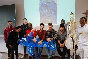 Gruppenfoto beim Projekt der Ethik-Gruppe