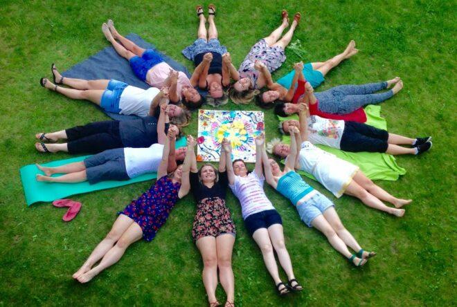 Gruppenfoto vom Sozialkompetenztraining in Windberg